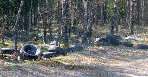 Šiukšlės miške