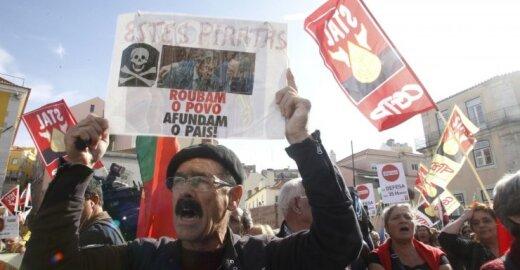 Protestas Portugalijoje dėl skurdo