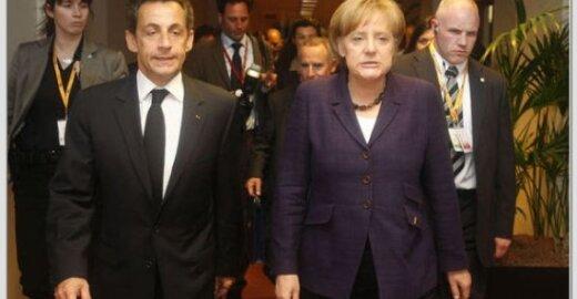 Nicolas Sarkozy ir Angela Merkel