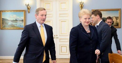 Enda Kenny ir Dalia Grybauskaitė
