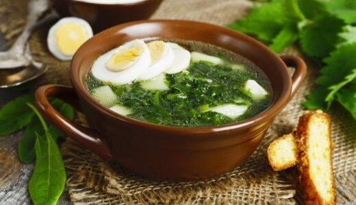 Greita špinatų sriuba