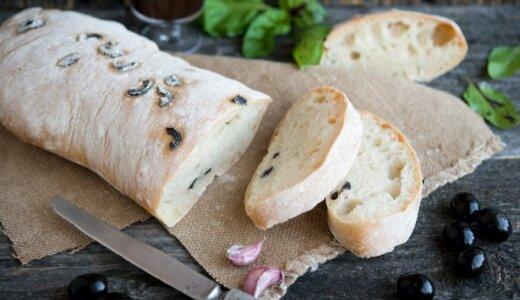 Neatsivalgomai skani itališka duona su alyvuogėmis