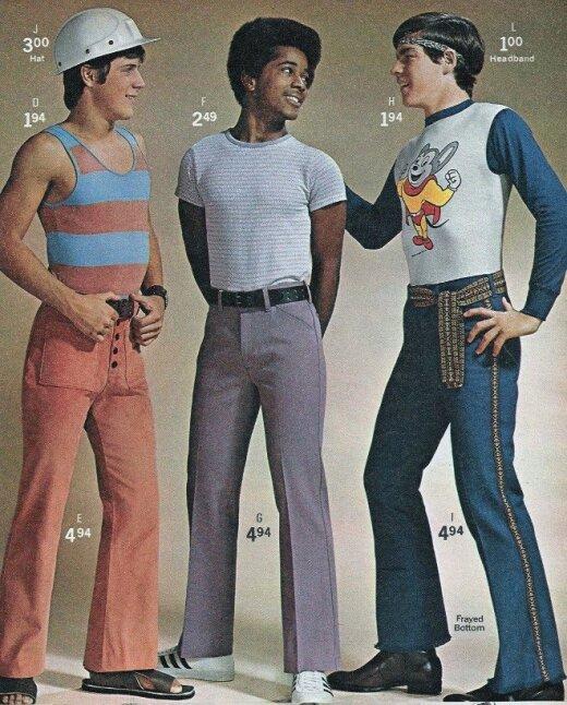 Beprotiškai nenormalios 70-ųjų mados