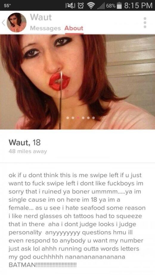 """12 baisiai juokingų """"Tinder'io"""" profilių, kurių tikrai nekviesite į pasimatymą"""