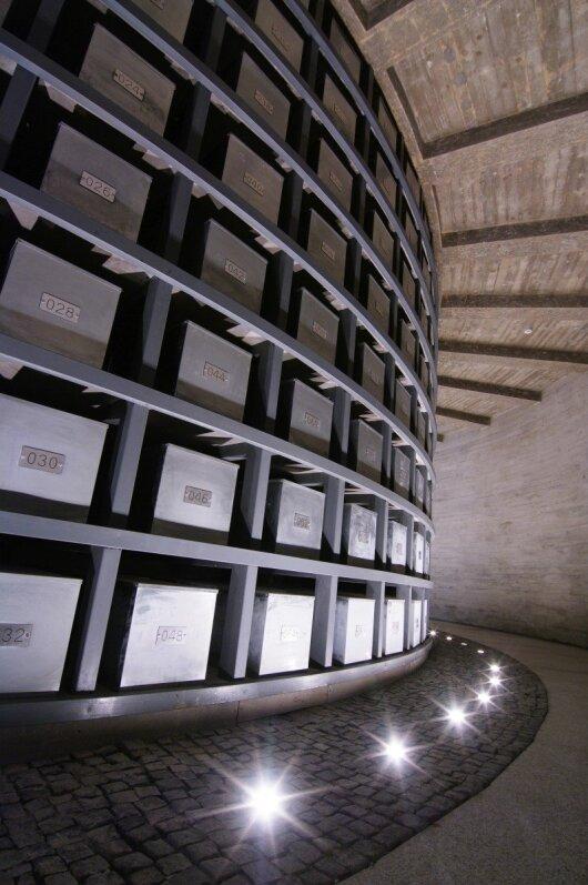 Tuskulėnų koplyčios kolumbariumas (Genocido aukų muziejaus nuotr.)