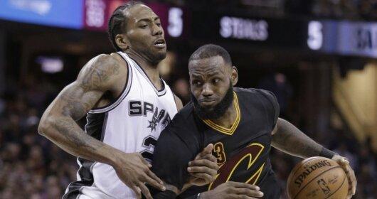 """NBA rungtynių Klyvlando """"Cavaliers"""" - San Antonijaus """"Spurs"""" vaizdo įrašas"""