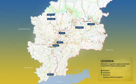 """Donbaso realybė: cezis, stroncis ir """"neaiškūs požeminiai smūgiai"""""""