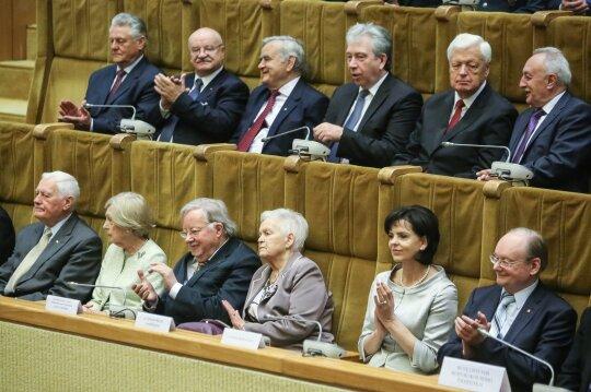 Valdas Adamkus, Alma Adamkienė, Vytautas Landsbergis, Gražina Landsbergienė, Janina Butkevičienė, Česlovas Juršėnas