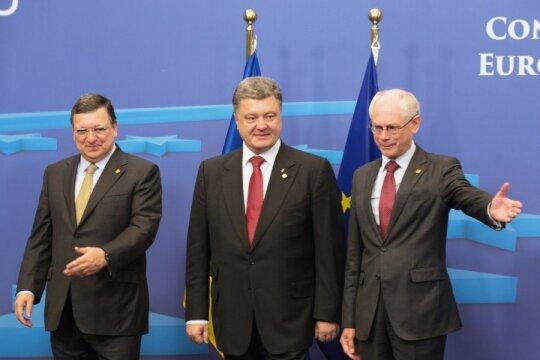 Jose Manuel Barroso, Petro Poroshenko, Herman Van Rompuy