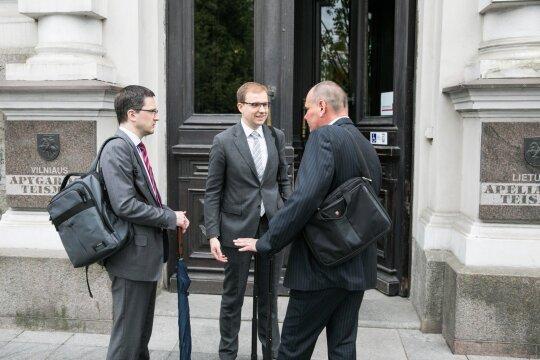 Vytautas Gapšys su advokatais