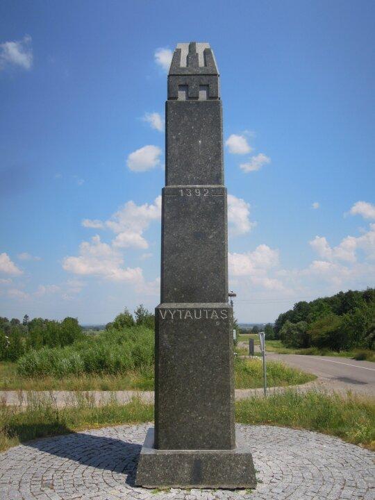 Paminklas LDK Vytautui Didžiajam Raižių kaime (D. Varnaitės nuotr.)