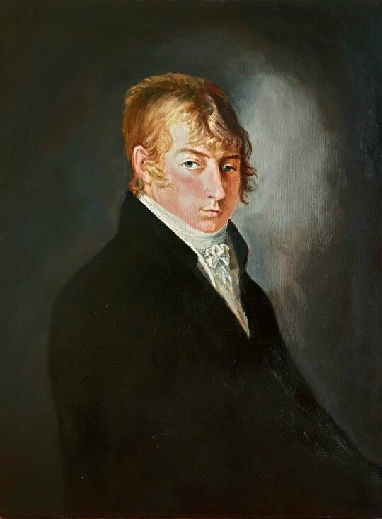 Theodoras von der Roppas, portretas kopija, dailininkas Linas Grybė