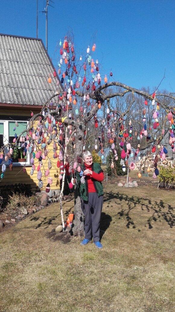 Velykinį medį papuošė 800 margučių