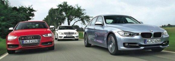 Audi, Mercedes ir BMW sedanai