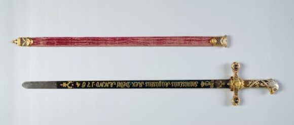 Sword from coronation of Lithuania's last grand duke on display in Vilnius