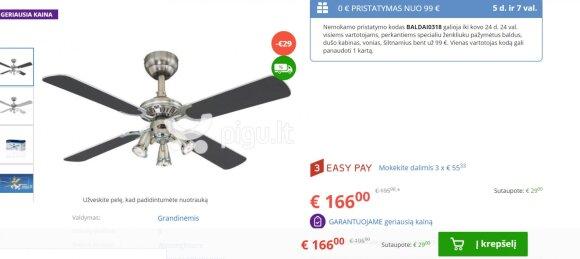 Negalėjo patikėti šviestuvo kainos skirtumu Lietuvoje ir užsienyje: ar tai adekvatu?