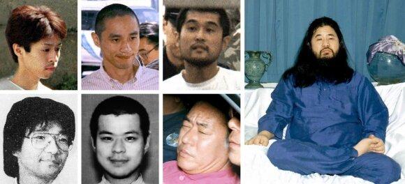 Japonijoje įvykdytos egzekucijos zarino ataką įvykdžiusio kulto lyderiui ir 6 jo sekėjams