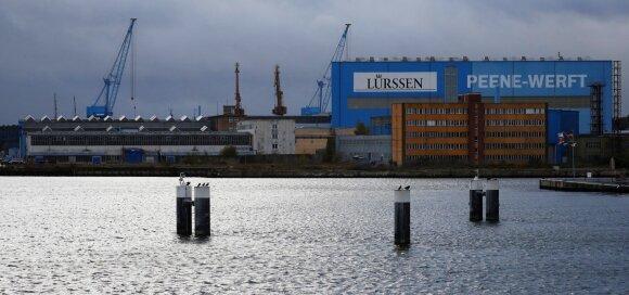 """Luerssen"" laivų statykla Vokietijoje"