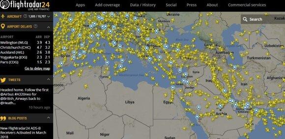 Tyla prieš audrą: virš Sirijos ištuštėjo dangus