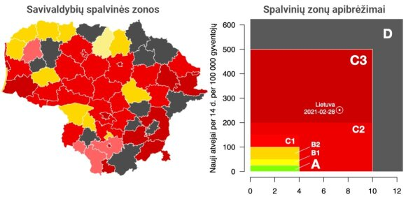 Sergamumo koronavirusu žemėlapis