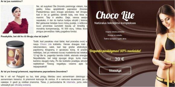 """""""Cosmopolitan"""" mėgdžiojantis rusiškas portalas sukurtas reklamuoti dietinį preparatą"""