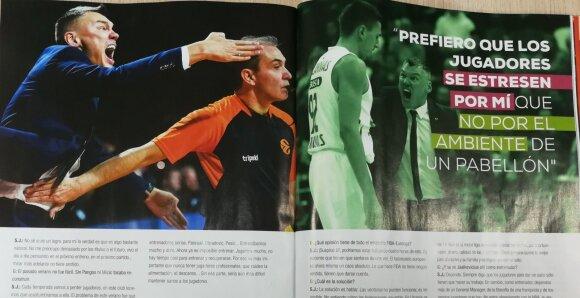 """Šarūnas Jasikevičius """"Gigantes del Basket"""" žurnale"""