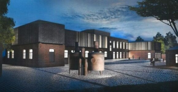Atgaivinto Panevėžio konservų fabriko vizualizacija