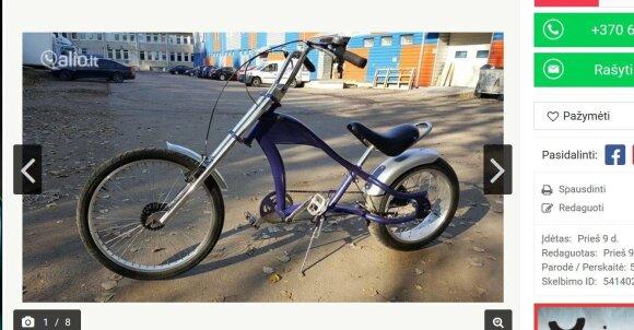 Ž. Žvagulio parduodamas dviratis