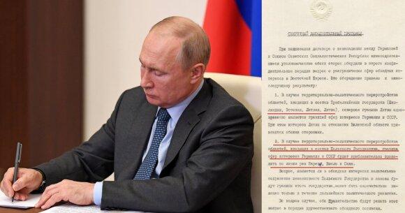 Suabejojęs Lietuvos okupacija Kremlius grasina: tektų kelti Klaipėdos ir Vilniaus klausimą