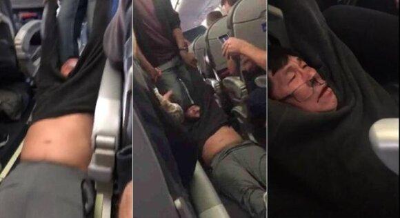 """""""United Airlines"""" viešųjų ryšių krizė gilėja"""