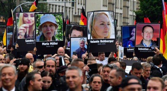 Protestai Chemnice po vokiečio nužudymo