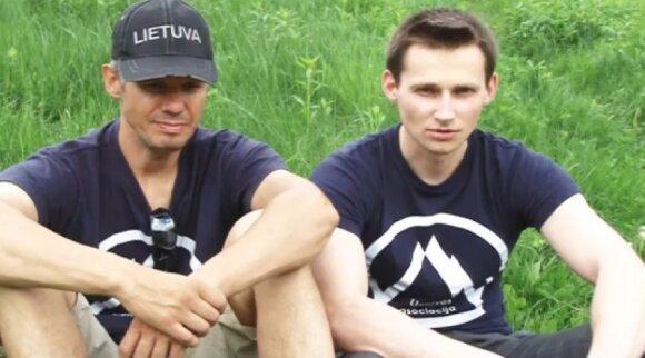Ekspedicijos į Nanga Parbat dalyviai Ernestas Markšaitis ir Saulius Damulevičius