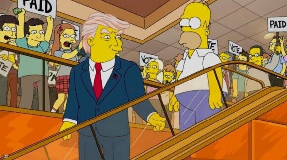 Homeris Simpsonas ir Donaldas Trumpas