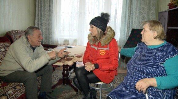 Gerda Žemaitė su laidos herojais