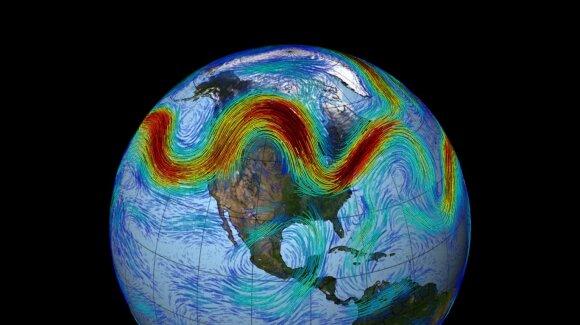 Klimato krizei ir toliau gilėjant, galima tikėtis akivaizdžių Šiaurės Atlanto atmosferos sraujymės sukrėtimų, o tai paskatintų esminius orų pokyčius.