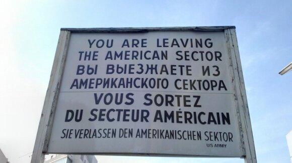 Vokietijoje gausu Šaltojo karo prisiminimų