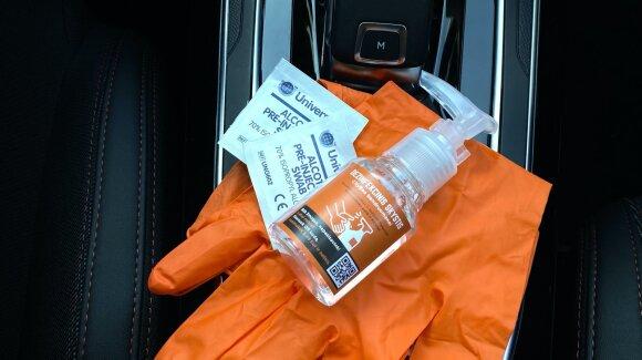 """""""CityBee"""" savo automobiliuose paliks dezinfekcinio skysčio vairuotojams"""