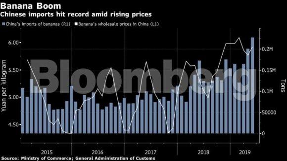 Kinija išėjo iš proto dėl bananų