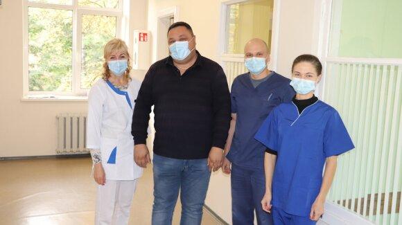 Šilutės ligoninės COVID-19 skyriaus medikai