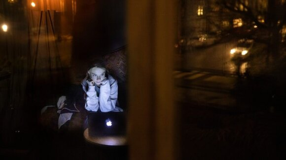 Gretos Thunberg ir Davido Attenborough virtualus pokalbis. Roger Turesson nuotr.