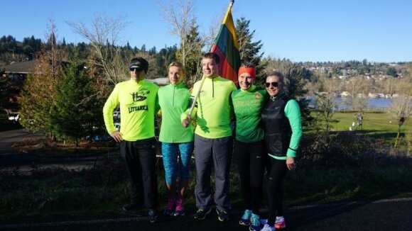 Runners commemorating January 13th in Portland, Oregon