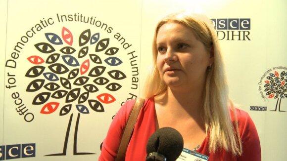 Estonian activist Alisa Blintsova in Warsaw. PHOTO ReBaltica, Mistrus Media