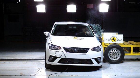 """Naujajam """"SEAT Ibiza"""" – penkios """"Euro NCAP"""" saugumo testo žvaigždutės"""