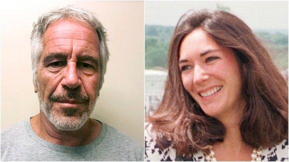 Ghislaine Maxwell ir  Jeffrey Epsteinas