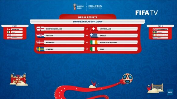 FIFA'18 atkrintamųjų burtai