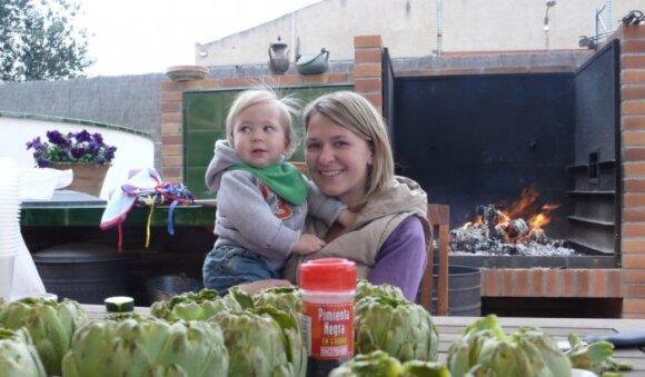 Greta Akcijonaitė su sūnum Kasparu