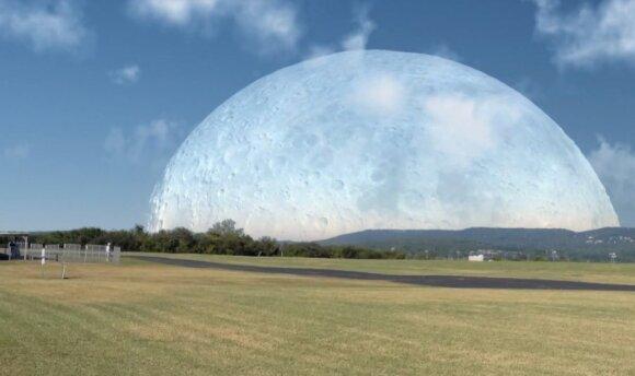 Mėnulis 420 km atstumu nuo Žemės
