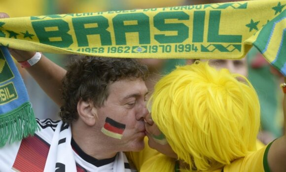 Vokietijos futbolininkai finale tikisi brazilų palaikymo
