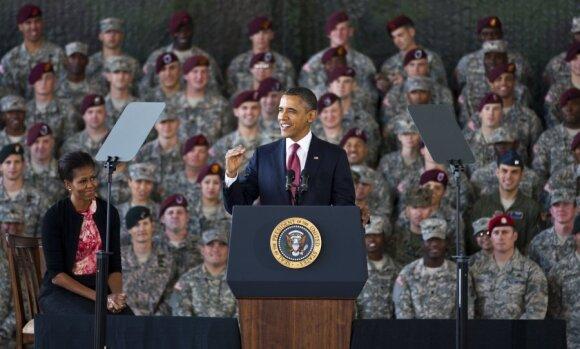 B.Obama pasveikino iš Irako grįžusius karius