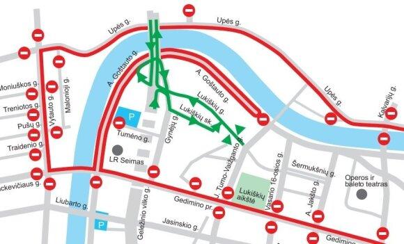 Velomaratono metu bus ribojamas eismas, tačiau Vilniaus centras – neuždaromas